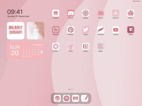 Pink Iphone setup