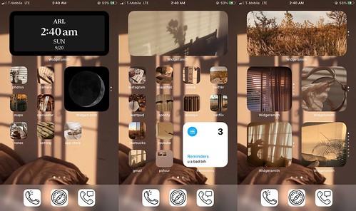 Brown Iphone setup