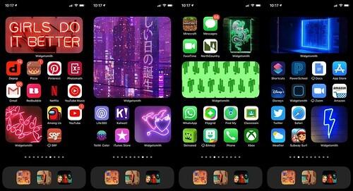 Colourful Iphone setup