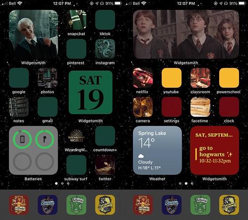 Harry Potter Iphone setup