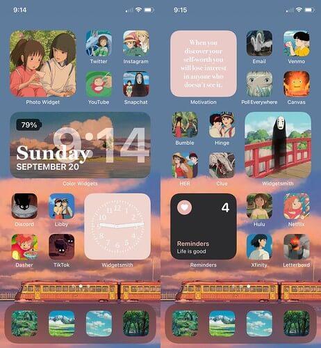 Studio Ghibli Iphone setup