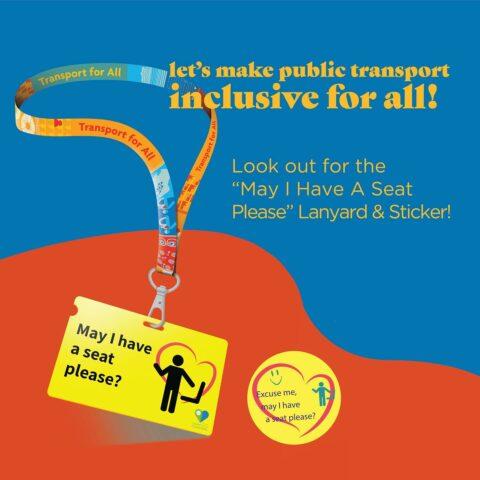 Creating awareness for hidden disabilities on public transport with a lanyard MOI CCC LTA
