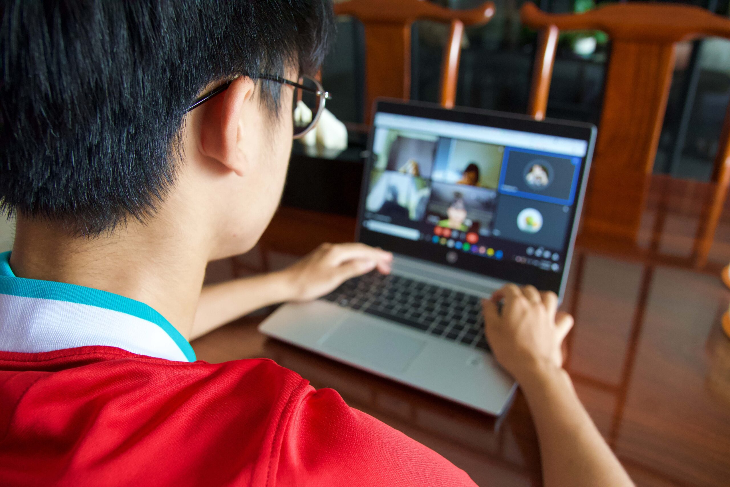 home-based-remote-learning-laptop